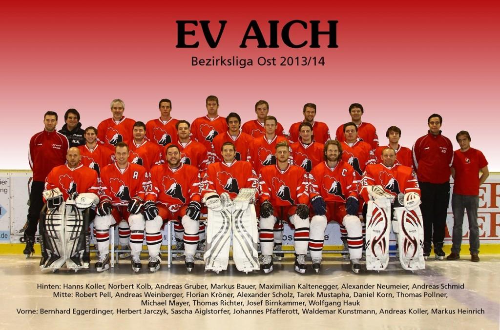 Mannschaftsfoto EV Aich 2013/14