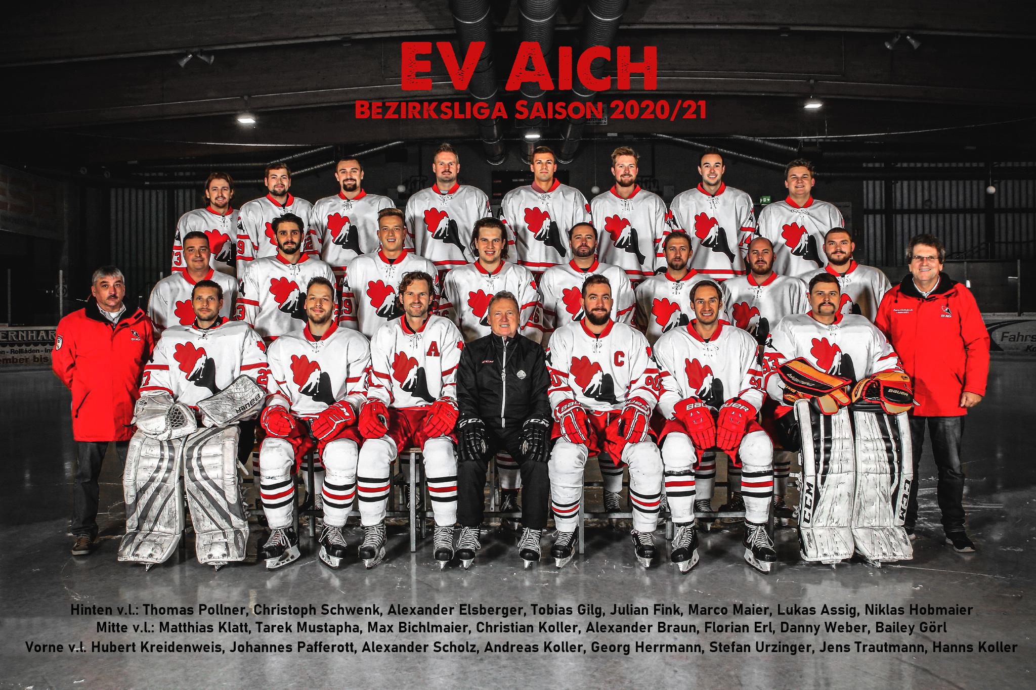 EV Aich Mannschaftsfoto Bezirksliga Saison 2020-21